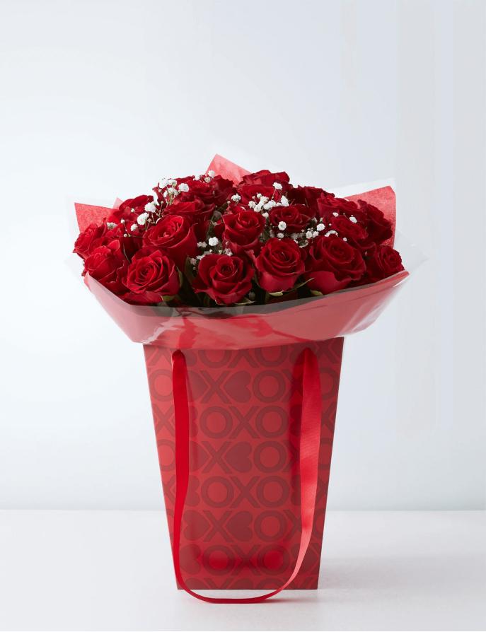 Clássico 24 Rosas Vermelhas